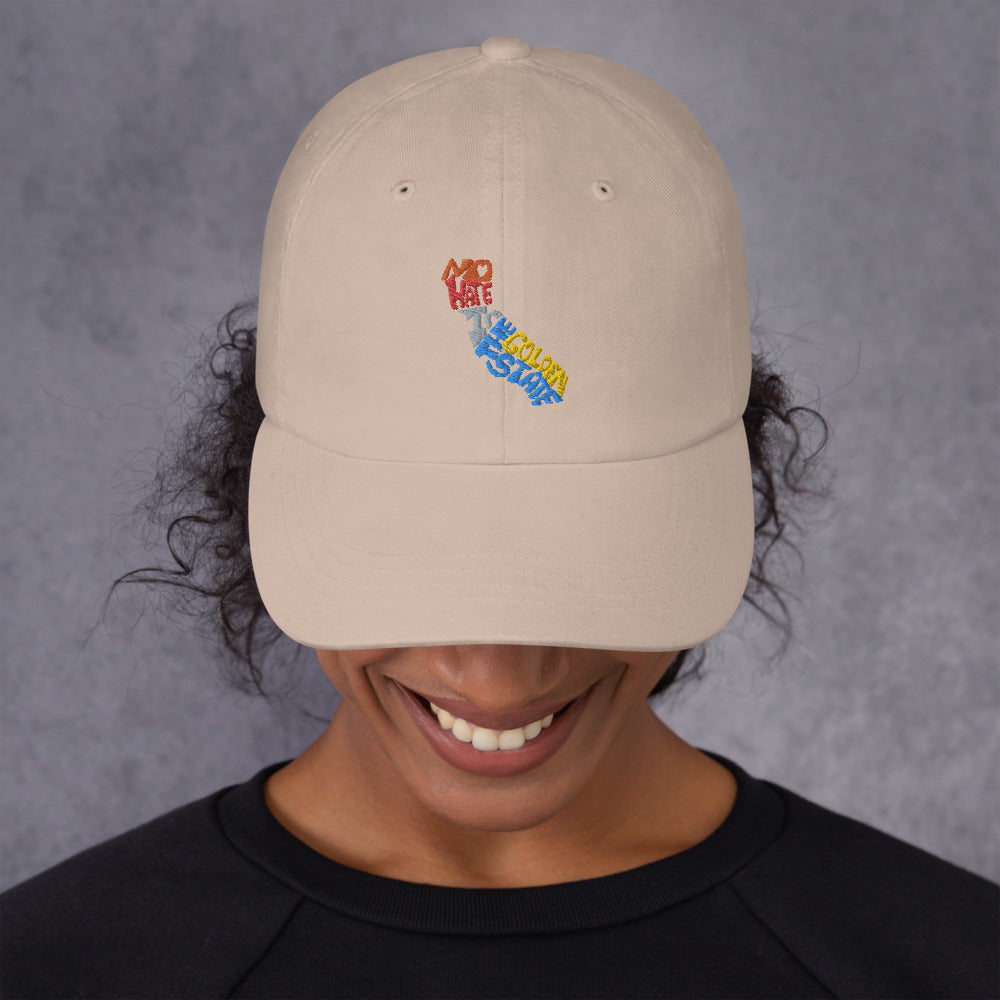 No Hate In The Golden State Dad hat