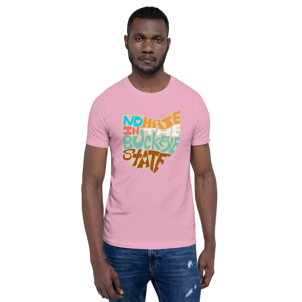 No Hate In The Buckeye State Short-Sleeve Unisex T-Shirt