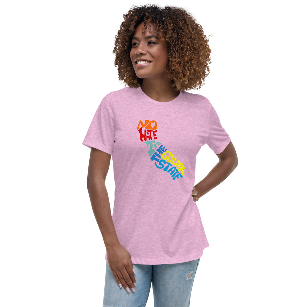 No Hate In The Golden State Women's Relaxed T-Shirt