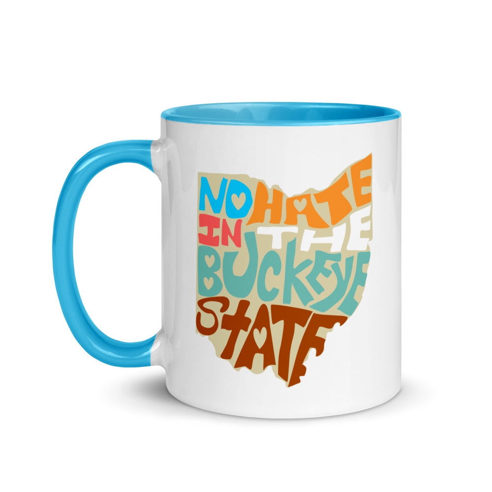 No Hate In The Buckeye State Mug with Color Inside