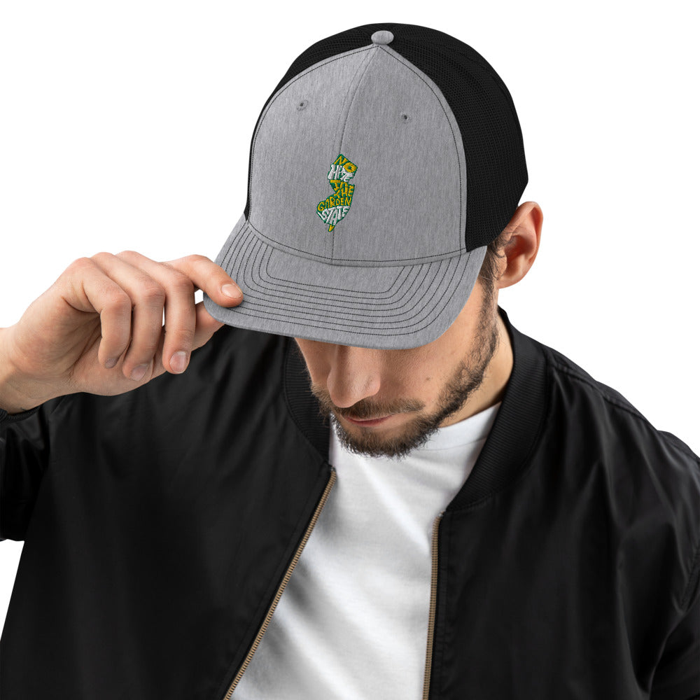 No Hate In The Garden State Trucker Cap