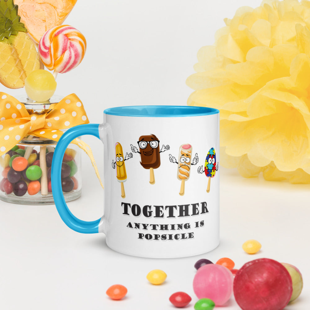 Anything is Popsicle Mug with Color Inside