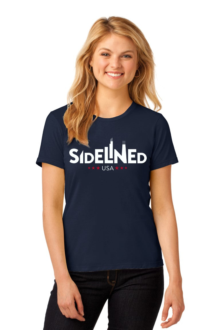 Sidelined Anvil® Ladies 100% Ring Spun Cotton T-Shirt