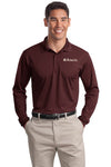 Eckert's Sport-Tek® Long Sleeve Micropique Sport-Wick® Polo.