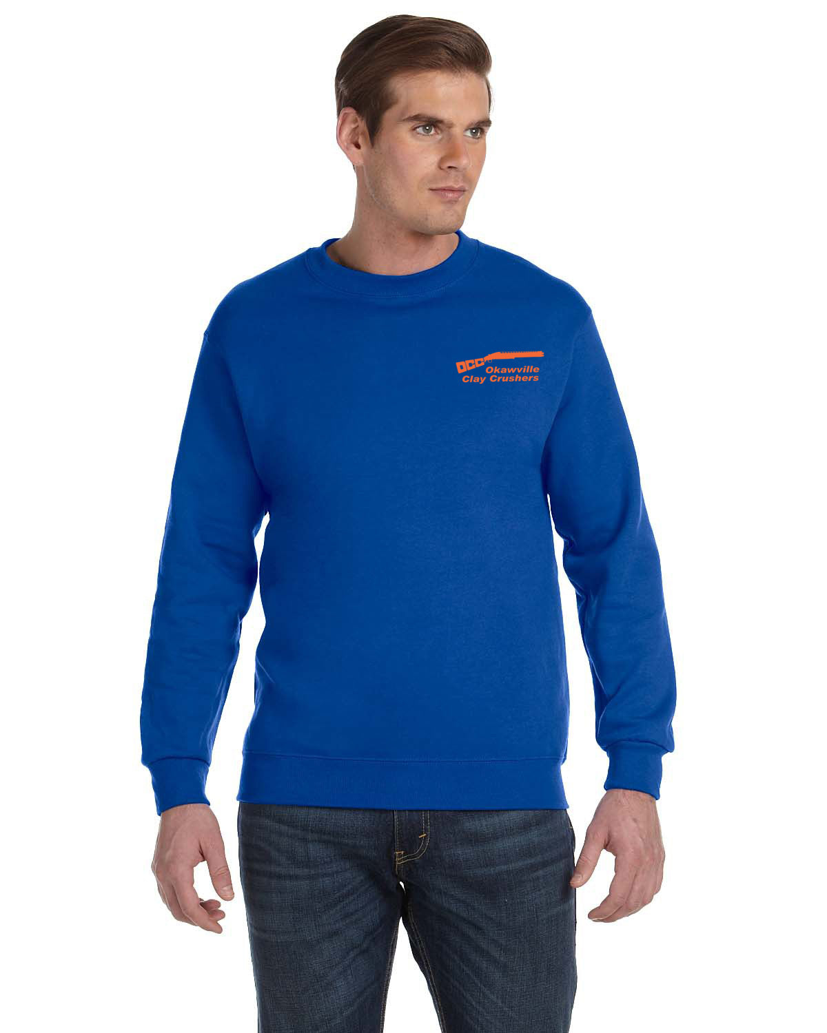 Okaville Clay Crushers Gildan DryBlend® 9.3 oz., 50/50 Fleece Crew