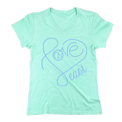 Heart Triblend Vneck T-shirt