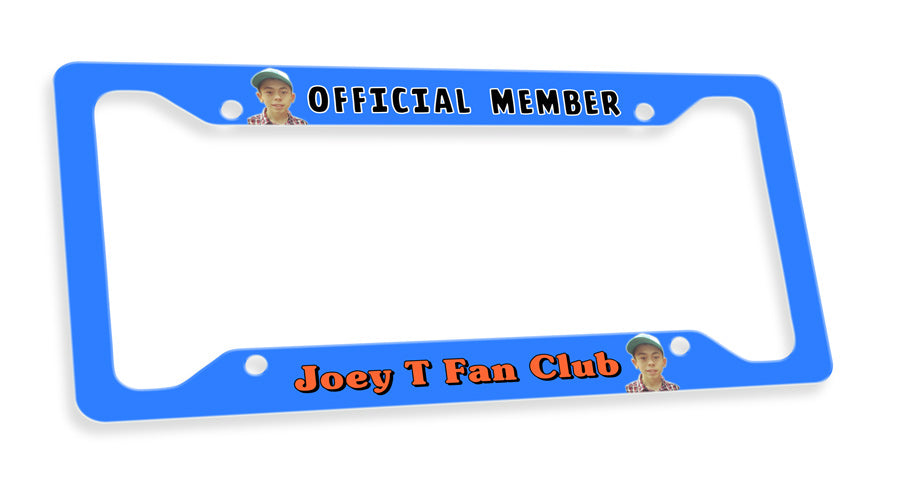 Joey T License Plate Frame