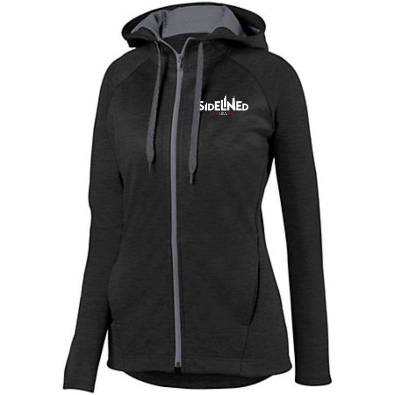 Sidelined LADIES ZOE TONAL HEATHER FULL ZIP HOODIE