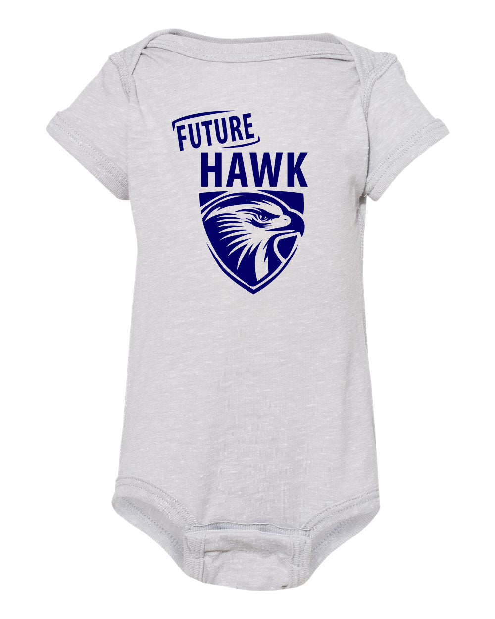 Future Hawk Rabbit Skins - Infant Harborside Mélange Bodysuit