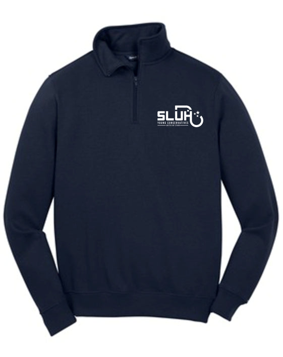 SLUH Young Conservatives 1/4-Zip Sweatshirt White Only Logo