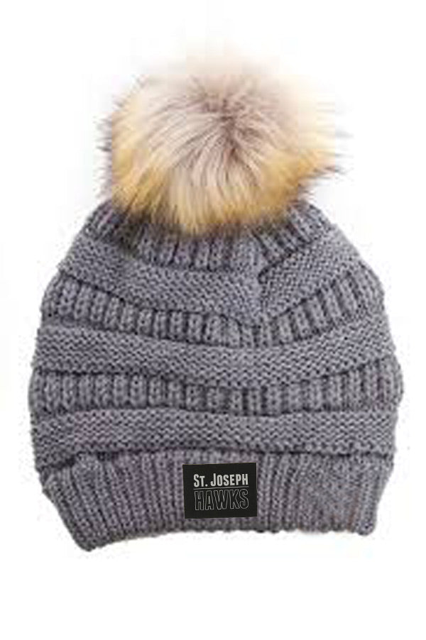 St. Joe's Hawks CC Beanie with Faux Fur Pom