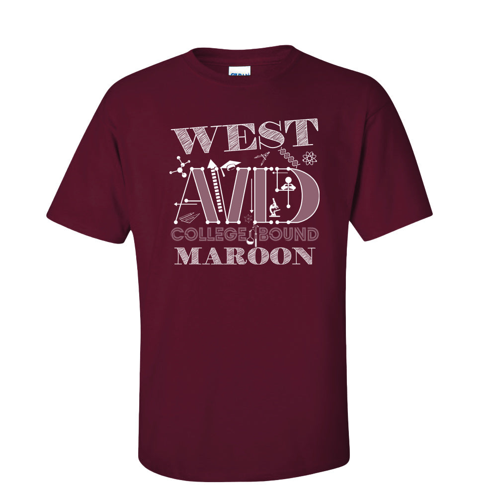 West AVID College Bound Shortsleeve T-shirt