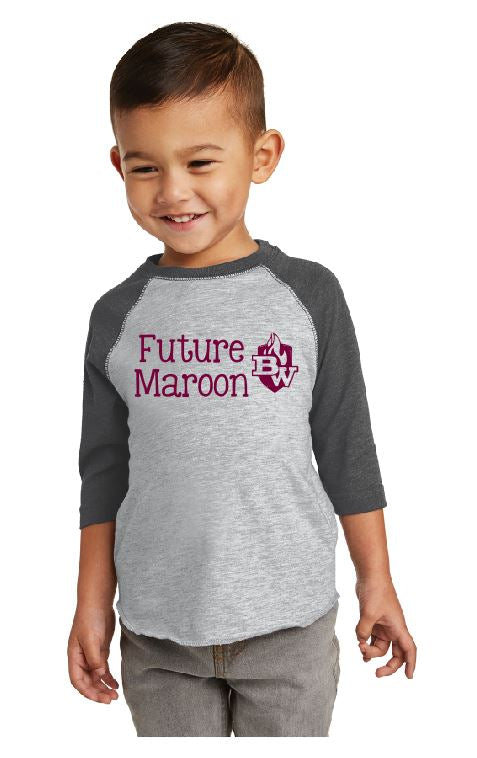 West Future Maroon Baseball Jersey Tee