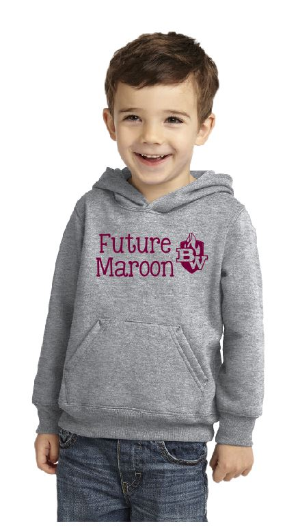 West Future Maroon Toddler Core Fleece Pullover Hooded Sweatshirt