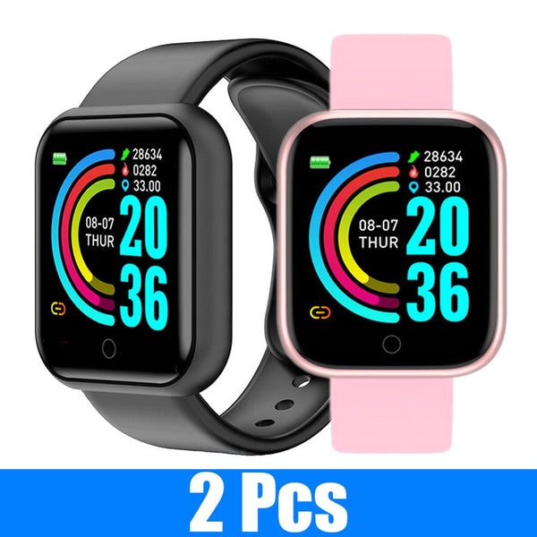 Smart Watches Y68 Fitness - 2 PÇS