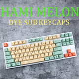 Hami Melon Cherry Profile Keycaps For Mechanical Keyboard Thick Pbt Keycap