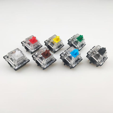 IDOBAO Gateron mx switch 5pin transparent case mx green brown blue switches