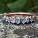 Bright / Antique Copper Herkimer Diamond Ring