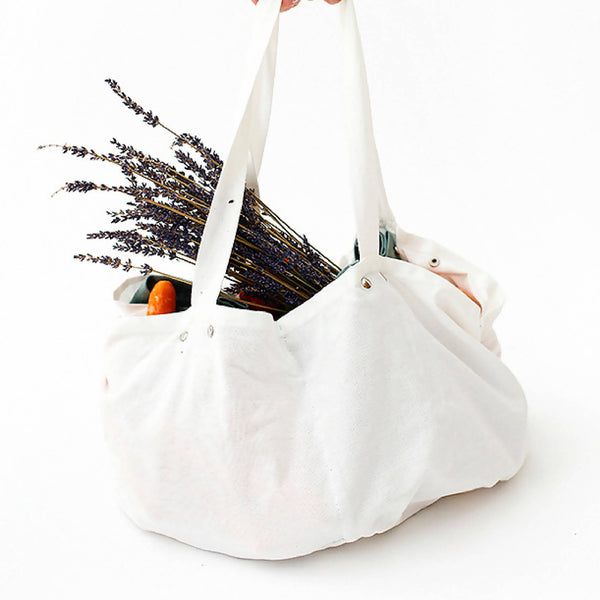 Reusable Linen & Cotton Grocery Bag