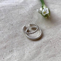 Handmade Toe Ring Set from Recycled Sterling Silver