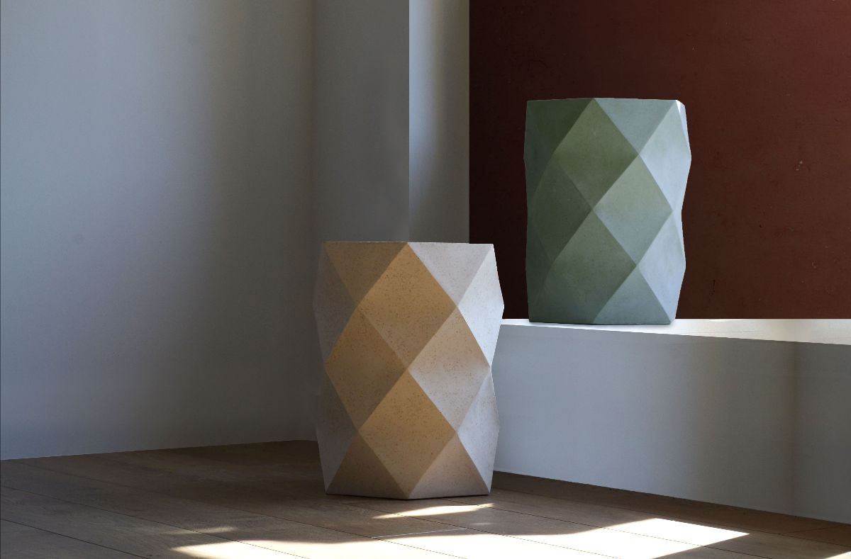 Two geometrical large planters