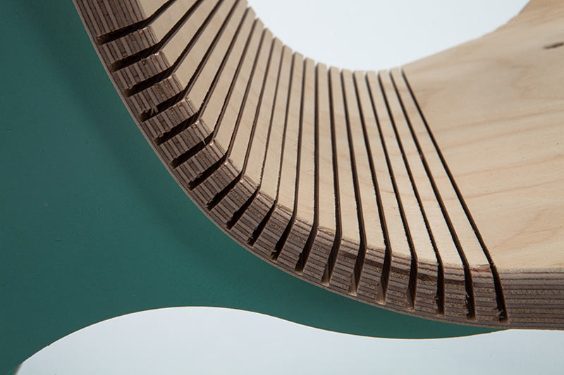 Detail of a green wooden chair