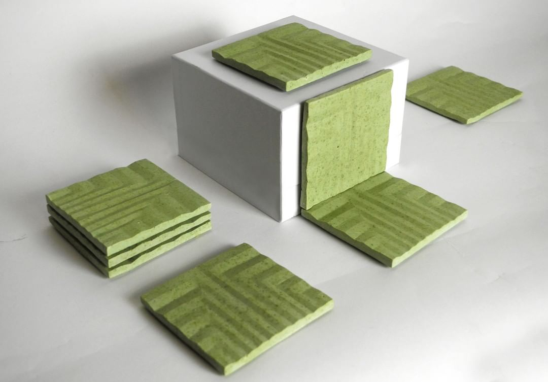 Green teawaste coasters