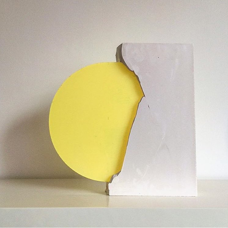 Yellow and concrete art object
