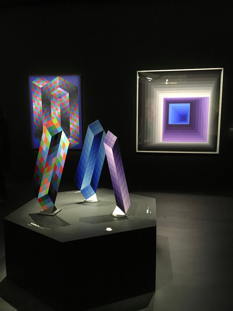 Black and purple art installation