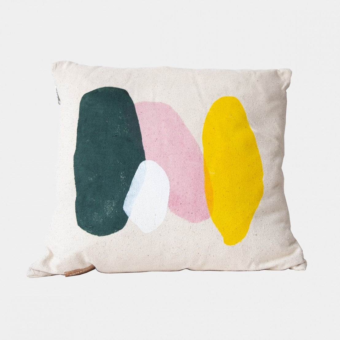 Handpainted colourful pillow case