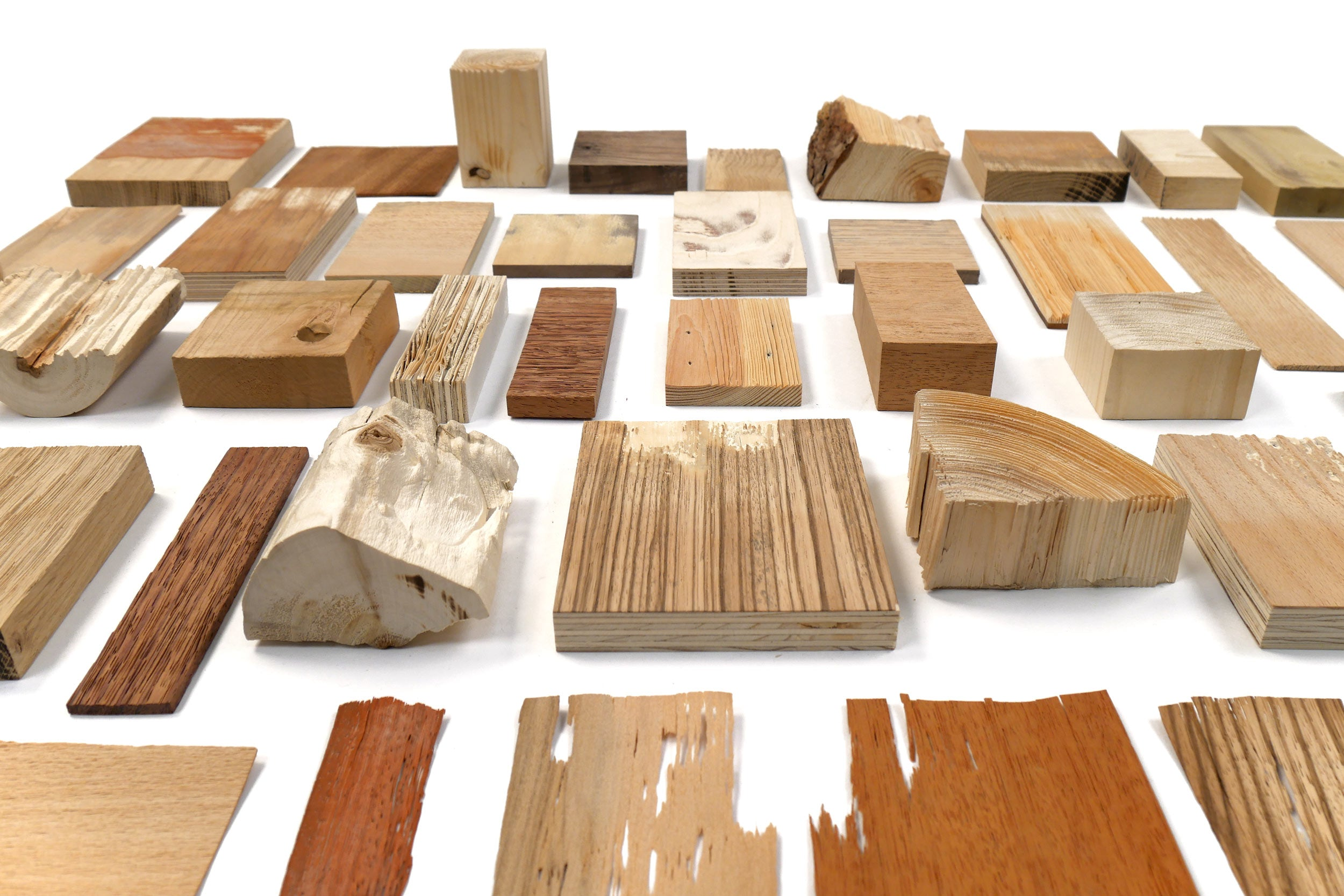 Different pieces of wood