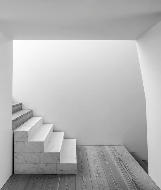 Concrete stairs in a minimal space
