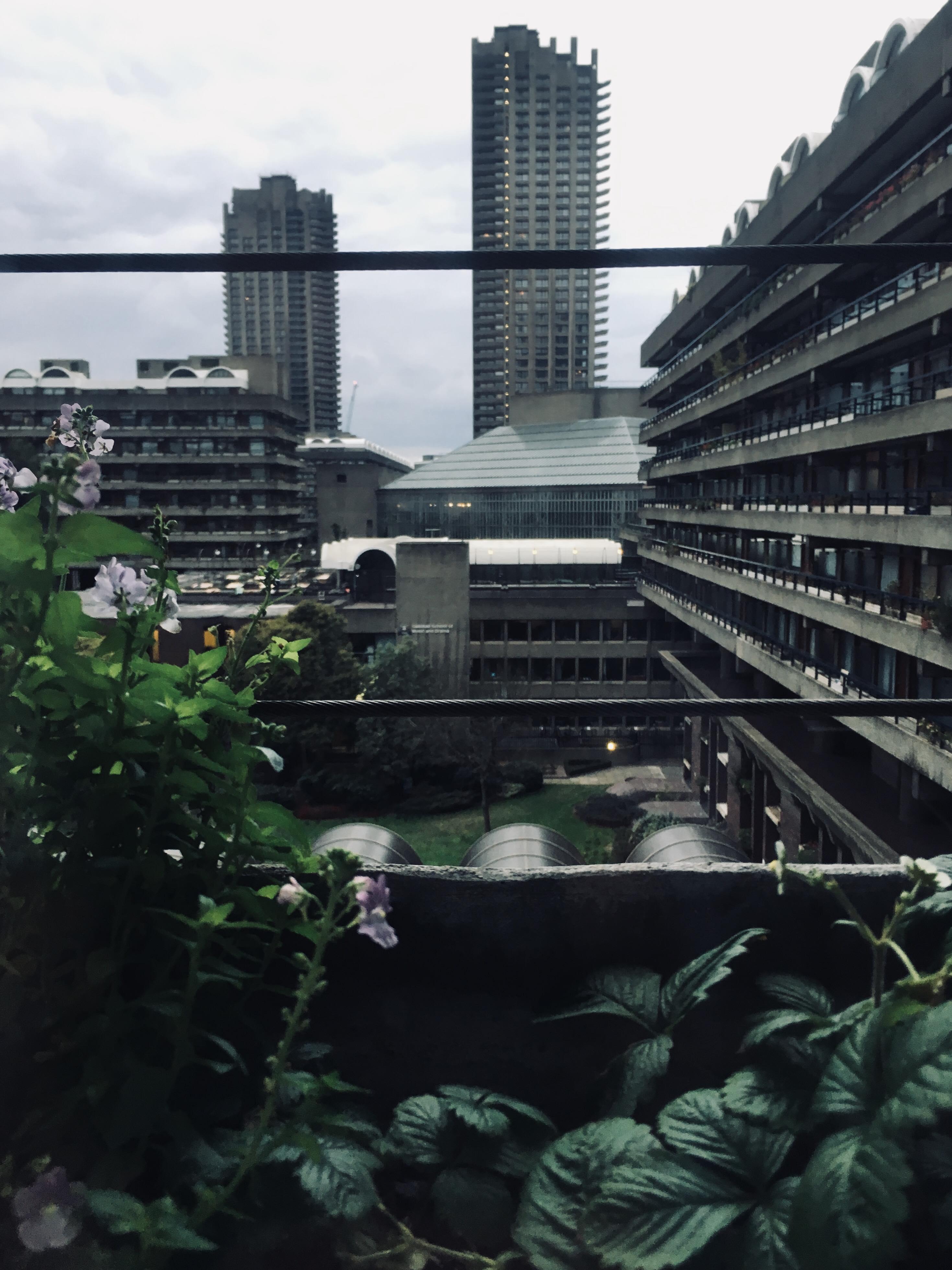 A view to Barbican Estate in London