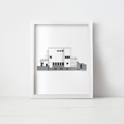 Diplomats Villa Print by Estonian Wall Art