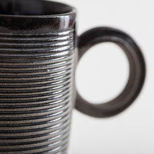 Load image into Gallery viewer, Striped Black Mug by Jarõna Ilo