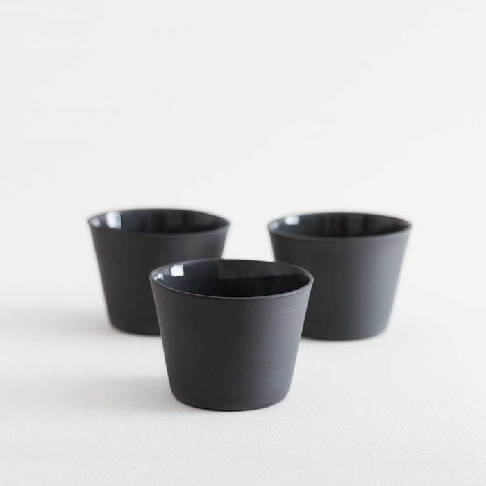 3 Espresso Cups - Grey by Nüüd Ceramics