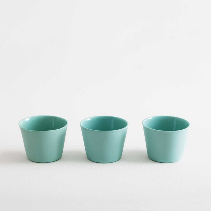3 Espresso Cups - Mint Green by Nüüd Ceramics