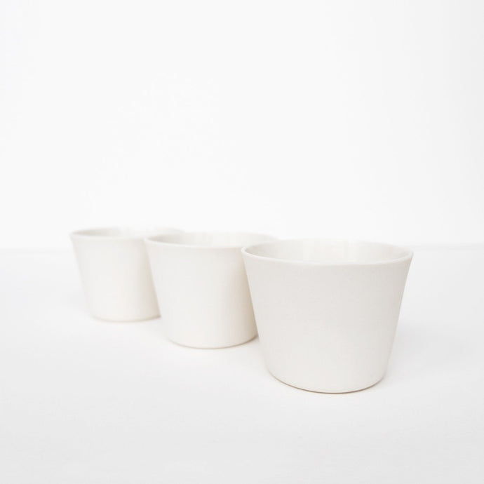 3 Espresso Cups - White by Nüüd Ceramics