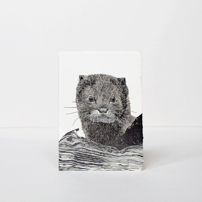 European Mink Greeting Card by Labora