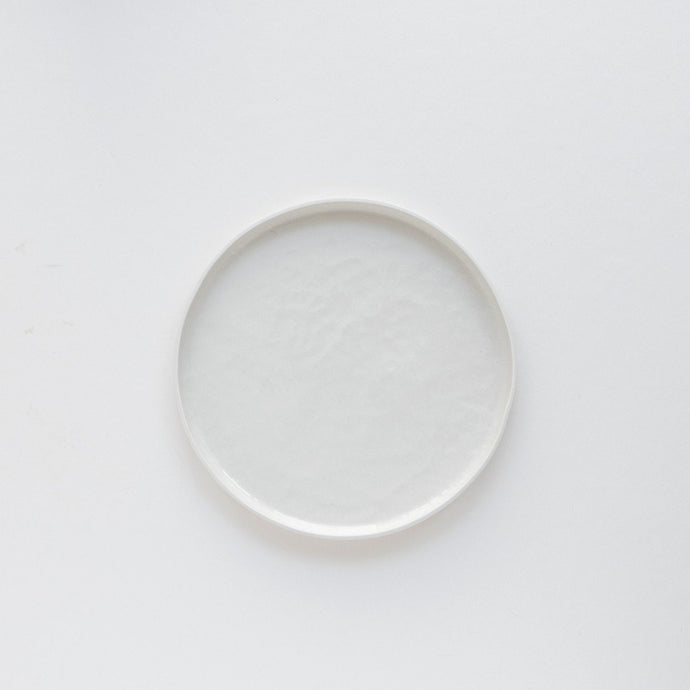 Medium Porcelain Plate - White by Nüüd Ceramics