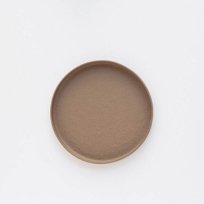 Medium Porcelain Plate - Brown by Nüüd Ceramics