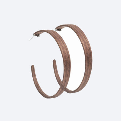 Walnut Ring Earrings by Lentsius Design