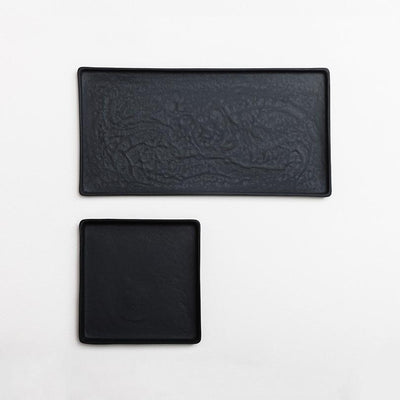 Black Ceramic Platters by Nüüd Ceramics