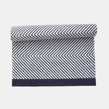 Load image into Gallery viewer, Zikzak Navy Cotton Rug by Leeda Ots