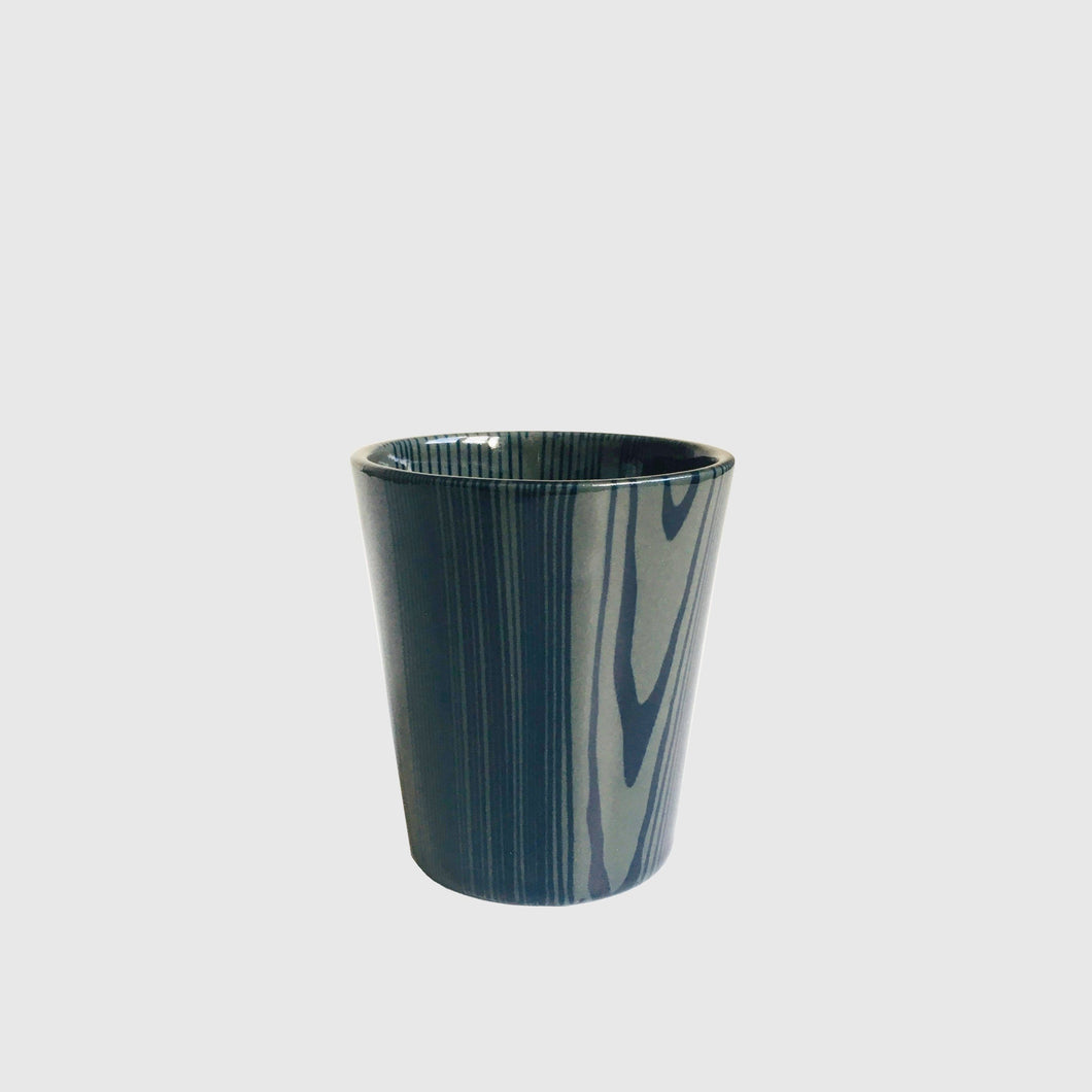 Blue & Grey Porcelain Cup by Raili Keiv