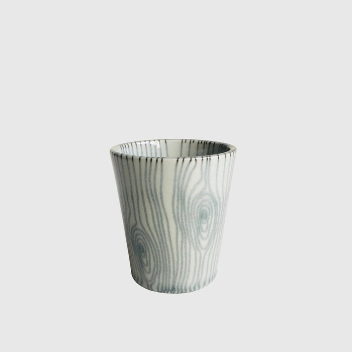 Grey & Black Porcelain Cup by Raili Keiv