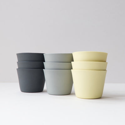 3 Espresso Cups - Light Grey by Nüüd Ceramics