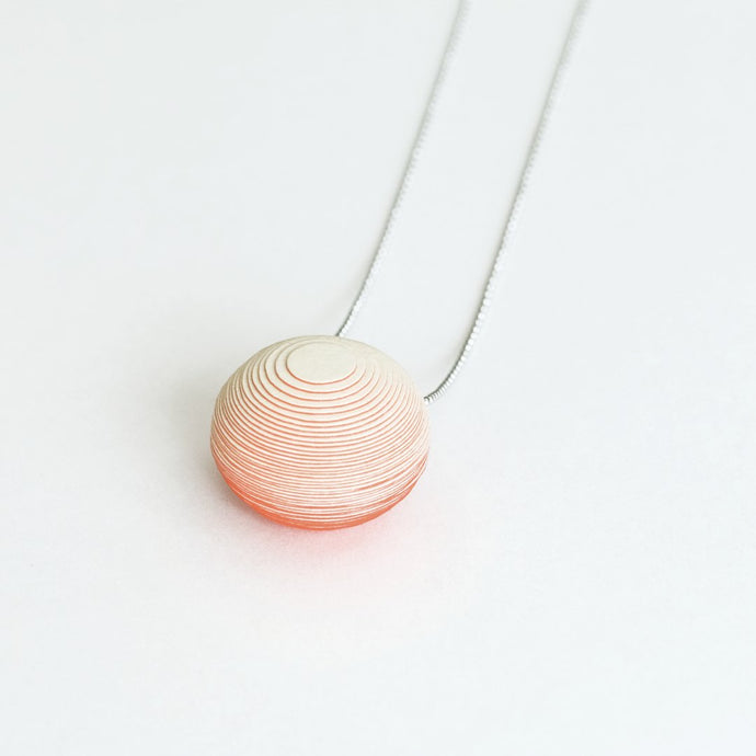 Bonnie Necklace Pale Yellow & Coral - NID