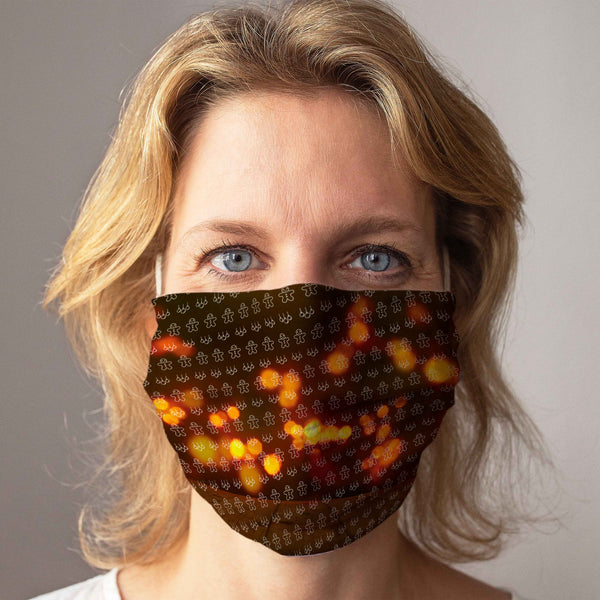 Community Face Mask: Shiny Christmas Light