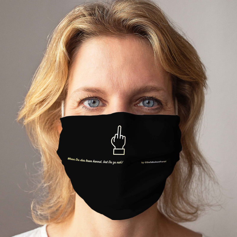 Cloth Face Mask: The Finger